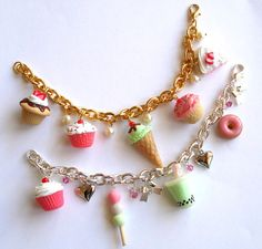 BFF Necklaces Carnival Cotton Candy Best by FatallyFeminine, $29.00