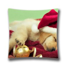 Christmas Dog Pillow Cover 18 x 18 Holiday Pillowcase Decorative Pillow Cover Christmas Decoration >>> This is an Amazon Affiliate link. You can find out more details at the link of the image.