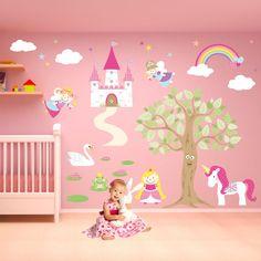 Fairy Wall Decal Deluxe Fairy Princess by EnchantedInteriorsUK