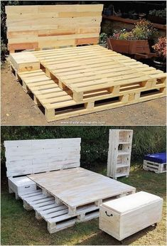 Best DIY Pallet Bed #diypallet #palletprojects