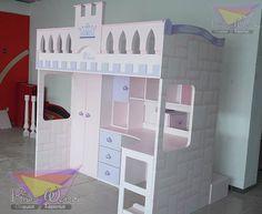 Cama alta para princesas: Habitaciones infantiles de estilo por camas y literas infantiles kids world