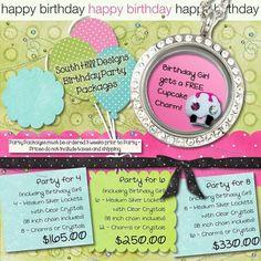 Birthday party locket style! ;)