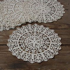 Set of 6 round crochet doilies coaster by DamovFashion on Etsy, zł65.00