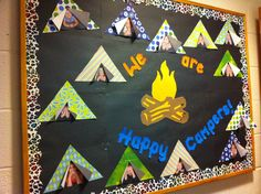 Board for our camping theme! The kids loved seeing their photos up !