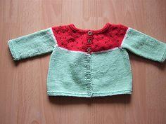 Ravelry: Watermelon Baby Cardi pattern by Katarzyna Tarasik free pattern