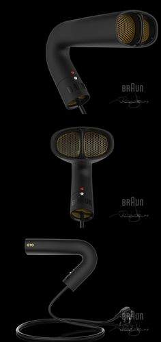 Braun Hair Dryer GTO compact TUBE system, concept and design by Philippe Poyte. 2015.