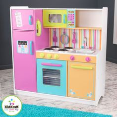 deluxe big & bright kitchen: kids will feel just like mom and dad