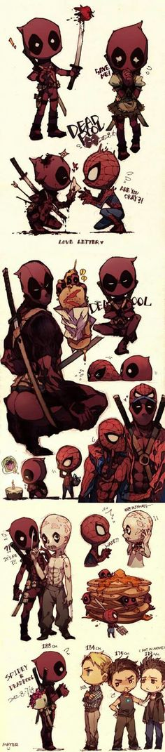 deadpool and spiderman wade wilson and peter parker spideypool