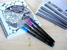 zendoodle pages ink fine art coloring book prints 25 by inkbook, $18.00