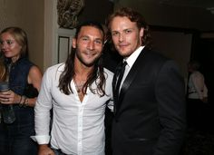 "STARZ ""Outlander"" premiere /// Sam Heughan and Zach McGowan /// Comic-Con International 2014 on July 25, 2014 in San Diego, California."