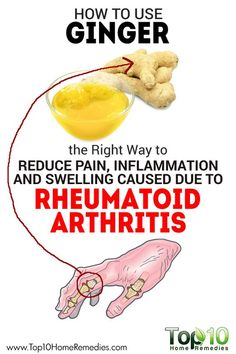 Natural Cures for Arthritis Hands - The Right Way to Use Ginger to Reduce Pain, Inflammation and Swelling Caused due to Arthritis Remedies Hands Natural Cures Arthritis Hands, Rheumatoid Arthritis Treatment, Knee Arthritis, Types Of Arthritis, Juvenile Arthritis, Arthritis Exercises, Arthritis Relief, Turmeric Arthritis, Healthy Recipes