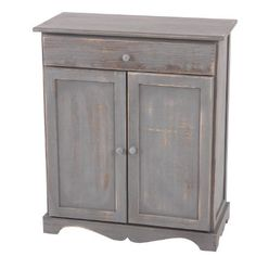 Commode / table d'appoint / armoire, 66x33x78cm, shabby, vintage, gris