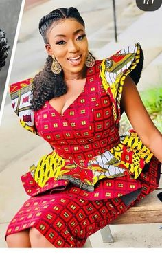 Ankara Xclusive: Beautiful African Print Styles For Plus Size and Curvy Ladies African Dresses For Women, African Print Dresses, African Attire, African Wear, African Fashion Dresses, African Women, African Style, Ankara Fashion, African Prints