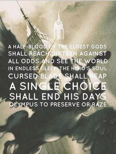 My favorite prophecy in the first set of 5 books :D