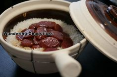 Claypot Rice with Chinese Sausage | Wandering Chopsticks