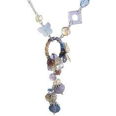 Women Lavender Crystal Bohemian Party Jewelry Princess Necklace Shops SKU-10802107