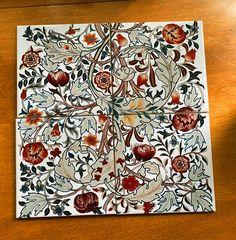Acanthus Tiles: William and May Morris Acanthus Design John Ruskin, Pre Raphaelite, Acanthus, William Morris, Tile Design, Daffodils, Medieval, Tiles, Arts And Crafts