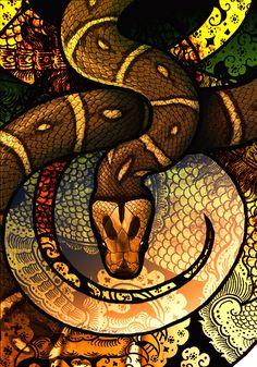 Malayan Pit Viper by Culpeo-Fox on DeviantArt Snake Art, Pet Snake, Snake Wallpaper, Beautiful Snakes, A Level Art, Poster Pictures, Anatomy Art, Deviantart, Black Art