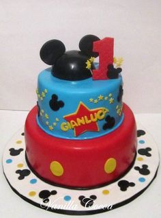 mickey mouse first birthday cake | Mickey Mouse 1st Birthday Cake | Flickr - Photo Sharing!