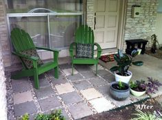 Apartment Therapy: A $40 Front Porch Makeover, Paver Patio