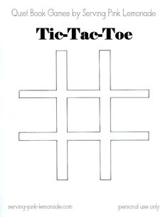 Serving Pink Lemonade: Quiet Book Games Part 3: Tic Tac Toe (Free Template Included)