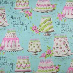 Mmm Blue BIRTHDAY Cake Wrapping Paper Gift Wrap Vintage vintage wrapping paper by holidaykitschklatsch The post Mmm Blue BIRTHDAY Cake Wrapping Paper Gift Wrap Vintage appeared first on Paper Diy. Vintage Wrapping Paper, Gift Wrapping Paper, Vintage Paper, Wrapping Papers, Paper Cards, Paper Gifts, Blue Birthday Cakes, Decoupage, Happy Birthday Vintage