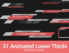 "다음 @Behance 프로젝트 확인: ""31 Animated Lower Thirds"" https://www.behance.net/gallery/23394459/31-Animated-Lower-Thirds"