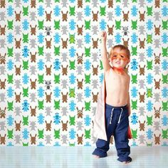 WallCandy French Bull Monster Temporary Wallpaper   2Modern Furniture & Lighting