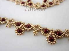 This tutorial includes a pdf file detailed step-by-step written instructions with photo for visual help  PROJECT SKILL LEVEL: beginner LANGUAGE: English   Another lace necklace easy to make. This is a tutorial only. No beads and no finished product are included in this sale.  Once