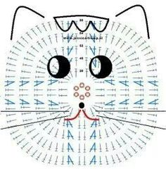 Cat applique. FREE CHART.