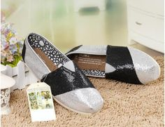 fresh and ready for your feet,TOMS shoes,god...SAVE 70% OFF! this is the best!   See more about glitter shoes, toms outlet and tom shoes.