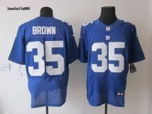 New York Giants #35 Andre Brown Blue Elite Jersey