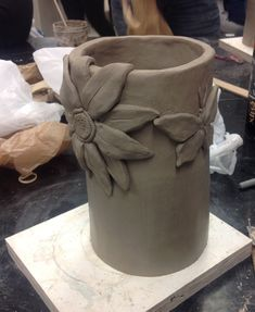 Coil construction, Intro to Ceramics.