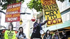 Women street preachers