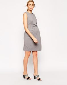 ASOS Maternity Drape Dress With Elasticated Waist In Crepe  UK/6  RRP £38.00