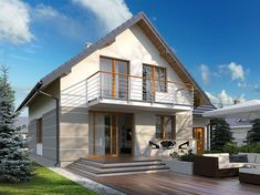 House Made, My House, Facade Design, House Design, Best Tiny House, New House Plans, Exterior House Colors, Design Case, Home Fashion