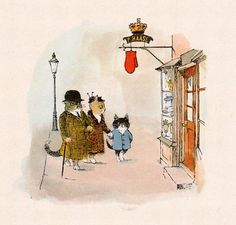 Mittens for Kittens, illustration by Erik Blegvad.