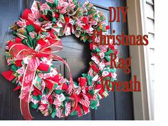 Little Miss Pinny: Christmas Rag Wreath Tutorial