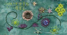 TAST 2012 Week 11 Woven Wheels | by stitchintime posted on Flickr by Gayle Schipper