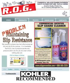 this is our rog website to order the cleaner please choose the rog kit 1 for fiberglass shower