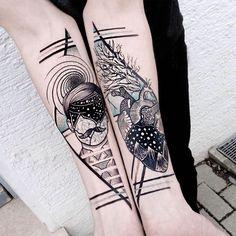 fibonacci, tattoo by Jessica Svartvit