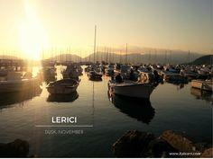 The quiet marina at sunset. Lerici, Liguria