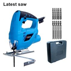 electric curve saw plus 10pcs blade household electric woodworking saw multi-function dust-free sawing machine DIY fretsaw