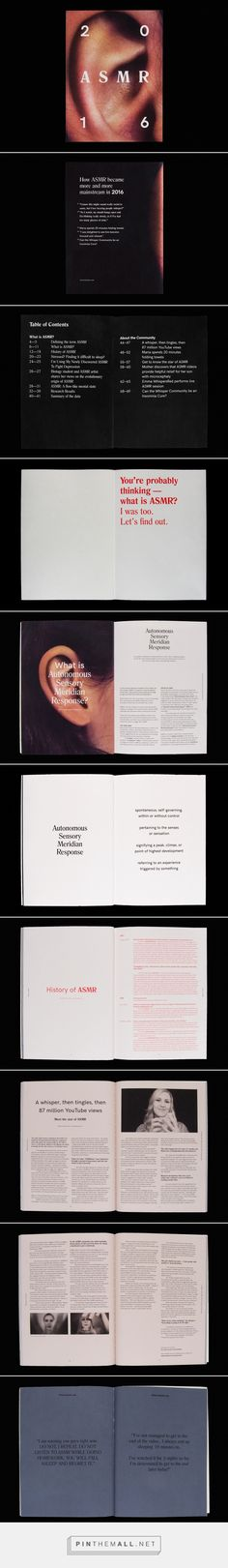 ASMR Magazine on Behance... - a grouped images picture - Pin Them All