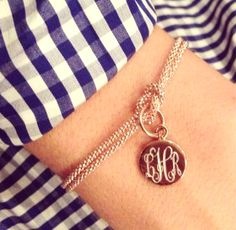 Oh-so-preppy personalization with this #nautical, #monogram bracelet, the Square Knot Bracelet from SwellCaroline.com! #BestSeller