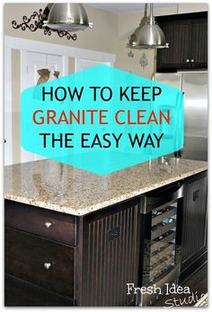 The secret to keeping your granite clean is as easy as 1,2,3.