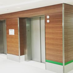 Commercial project three story elevator Lobby UCLA quarter sawn Walnut wall panels with catalyzed lacquer finish.#woodwork #art #commercialMillwork #Millwork #FFF #likeforlike #wallpaneling #designer #cabinetmaker #elevatorLobby de hamptonwoodwork