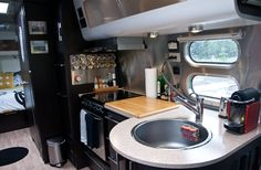 Cool Airstream kitchen