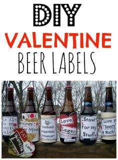 DIY Valentine Beer Labels for him