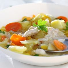 This is a very easy to make vegetable soup with chicken recipe that is satisfying and delicious.. Vegetable Soup With Chicken Recipe from Grandmothers Kitchen.